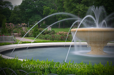 Loose Park rose garden fountain. Kansas City, Missouri