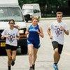 Runners from local high school joined together to kick off the Gardner Relay for Life on Friday, June 9, 2017. Athletes carried a torch from Leominster, through to Lunenburg, to Fitchburg and finally onto Gardner. Runners from Leominster, Ally Gagne, Maeve O'Malley and Nick Malm kick off their leg of the journey. SENTINEL & ENTERPRISE / Ashley Green