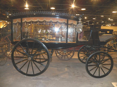 2-horse funeral coach with Waterford crystal windows and a German silver coffin holder inside, circa 1870
