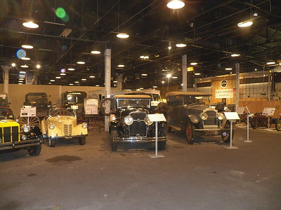The view from entrance to the main gallery of cars and other historic vehicles