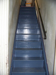 my stairs, after painting, April 2010