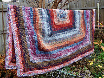 blanket crocheted as a gift, 2009