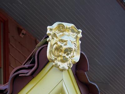 lion head on a roof corner of the Pagoda, Mt Penn, Reading, PA, November 2011