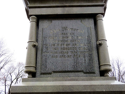 Civil War memorial, Charles Evans Cemetery, Reading, December 16, 2018