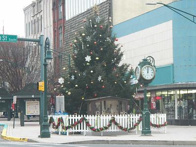 Reading city Christmas tree, 2012
