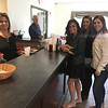 From left, Long Meadow bartender Maria Cunha of Chelmsford serves Jennie Flood of Tyngsboro, Tia Ouellette of Lawrence and Sarah Tyburski of Haverhill.