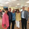 From left, Kim Keefe of Lowell, YMCA President Kevin Morrissey of Chelmsford, Betty Dick and Margie Miller of Lowell, and Chris Dick of Tewksbury