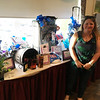 Erin Herbert of Hudson, N.H., with raffle prizes