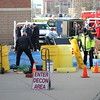 KRISTI GARABRANDT - THE NEWS-HERALD<br /> <br /> Lake County Hazmat sets up a decontamination staging area during the mass casualty training at Classic Stadium.