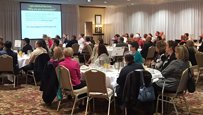 The audience fills the ballroom at the UWLC Annual Meeting. {United Way of Lake County photo}