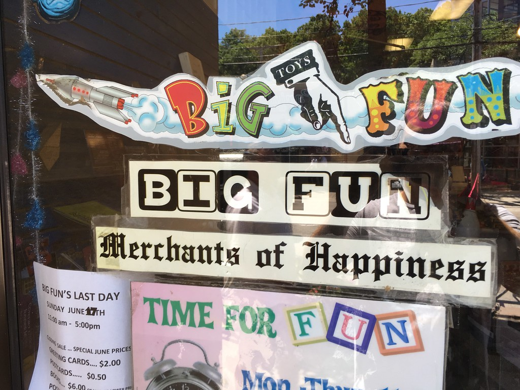 . Mark Podolski - The News-Herald Big Fun in Cleveland Heights on Coventry Road is closing on June 17.