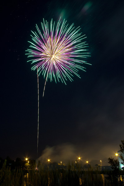 Fireworks from the Family Freedom Blast at Christ Church in Jacksonville, Florida on July 1, 2012