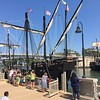 The Tall Ships Pinta and Nina arrive in Lorain. {Richard Payerchin-The Morning Journal}