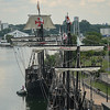 "Eric Bonzar—The Morning Journal<br /> Replicas of Christopher Columbus' ""Nina"" and ""Pinta"" caravel sailing ships docked at Lorain's Black River Landing, Aug. 2, 2017. The ships will open to the general public, Aug. 3, for self-guided tours from 9 a.m. to 6 p.m., daily, through Aug. 8. Admission is $8 for adults, $7 for senior citizens and $6 for students between the ages of 5 and 16 years old. Children under 4 are free. No reservations are necessary."