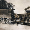 """Historic photo provided by North Ridgeville Historical Society <br> A horse-drawn """"business wagon"""" stopped in front of a customer's house along Center Ridge Road in Ridgeville around 1910 to 1915. It most likely was about to be replaced by a new-fangled gasoline powered """"auto truck."""" After the town was settled in 1810, many new businesses soon were started, such as gristmills and sawmills, stagecoach inns and taverns, cheese factories, blacksmith shops, a button factory, a chair factory, and eventually the Ridge Tool Company, which started in Ridgeville in 1923 and moved to Elyria about 1942 and which still manufactures pipe wrenches and other tools."""