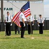 Kristi Garabrandt — The News-Herald <br> Color Guard from the American Legion presents the colors during the opening Ceremony of The Wall that Heals at the Geauga County Fairgrounds Sept. 8.