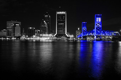 The Main Street Bridge and Downtown Jacksonville at Night