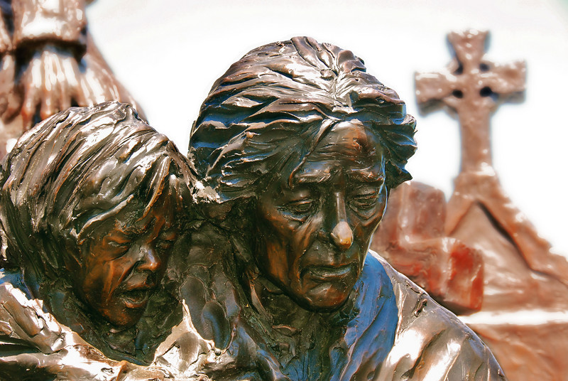 4/11/10 - Part of a giant sculpture in Philadelphia honoring Irish immigrants