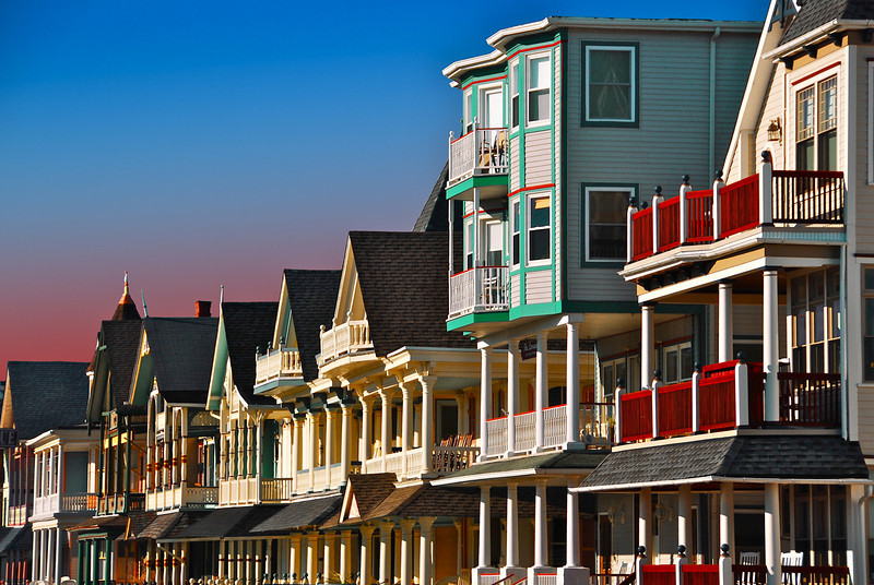4/10/10 - Beach houses in Ocean Grove NJ,   a little cut off on the bottom but its better than the clutter that was there