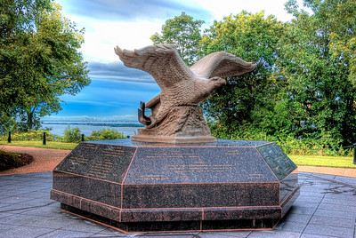 Monmouth County's 9/11 Memorial has three symbolic components: a timeline walkway to recollect the day's events; a stone base carved with the names, ages and hometowns of the county residents who lost their lives; and an eagle sculpture with a beam from one of the fallen towers.