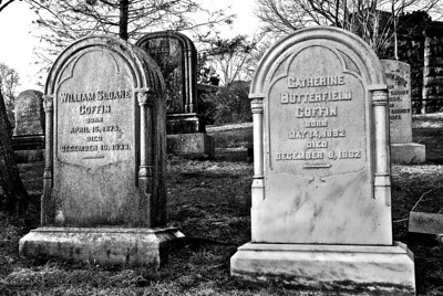 Irony  I found these gravestones in the historic Sleepy Hollow cemetery, an 85-acre cemetery in NY containing about 45,000 interments from 1849 on.  Check out this LIST of 19th century notable 'residents'