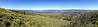 iPhone panorama from Tom McCall Preserve showing Mount Hood, Mount Adams, and the Columbia River