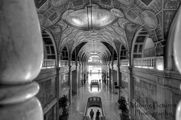 Dixie Terminal - arcade view, black & white