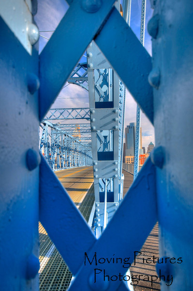 Roebling Suspension Bridge - thru the framework