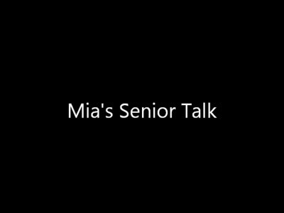 Senior Talks for Mia and Annie