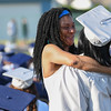 Eric Bonzar—The Morning Journal<br /> A graduate receives a hug during the 2015-16 Lorain High School Commencement Ceremony, May 24, 2016.