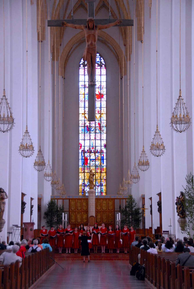 The knave at Frauenkirche--you could easily hear them even from the back of this amazingly large church
