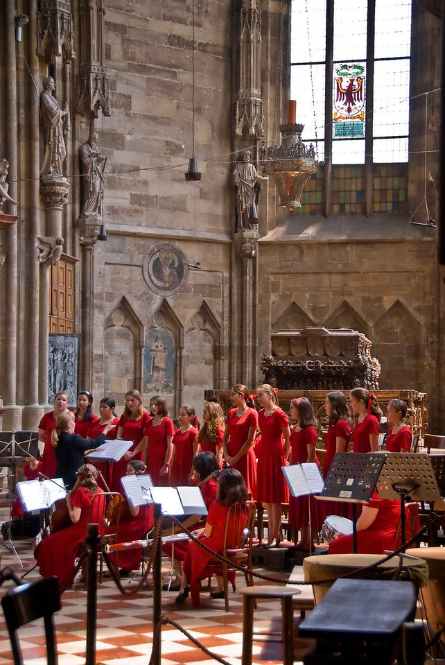 The concert after the mass allowed the girls to perform more of their repetoire