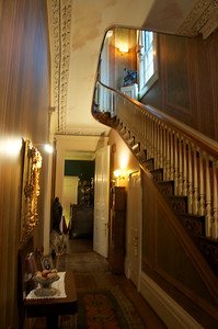 Amos Shinkle's townhouse - main staircase at entry