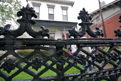 Amos Shinkle's townhouse - iron fence from Stewart Ironworks