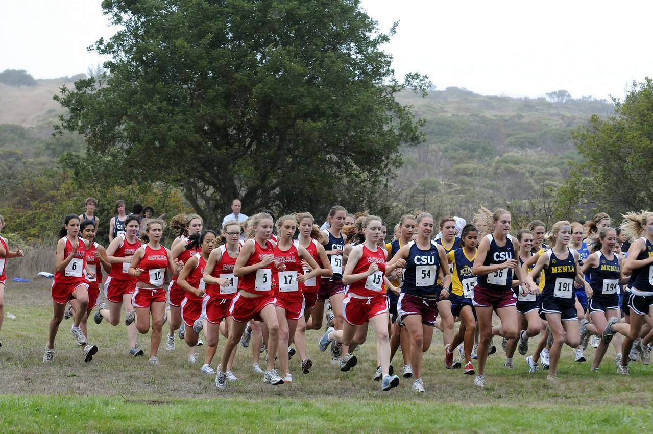 Castilleja Cross Country at San Bruno Mountain