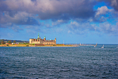 Castle Kronborg and sailing yachts