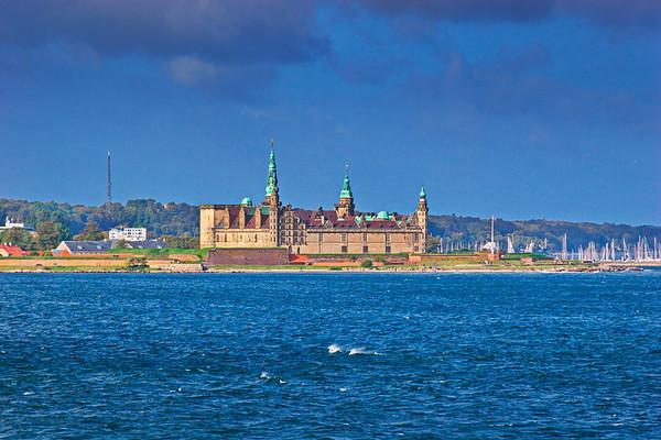 Castle Kronborg and yacht marina