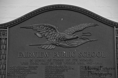 Fairview Elementary - plaque honoring WW I veterans