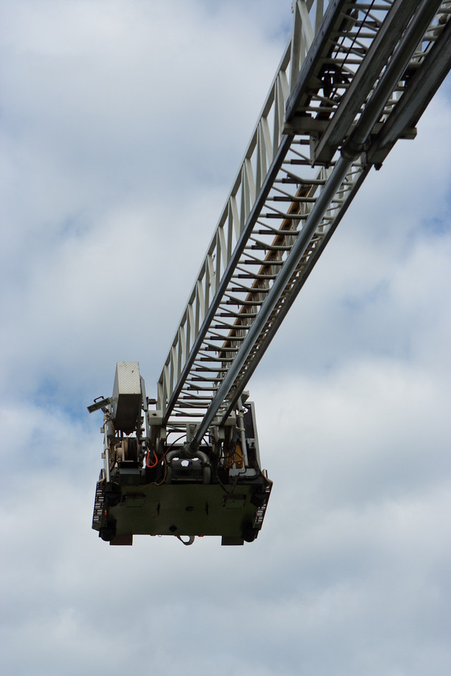 The ladder truck always makes for a great display.