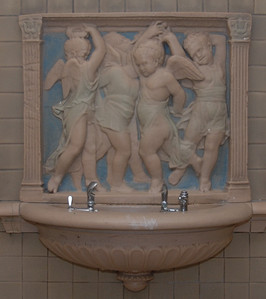 "The Donatello Rookwood fountain , ""Singing Boys"" - Donated by the class of 1912"