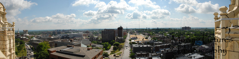 View from Hughes Tower - looking east toward University of Cincinnati