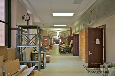 Hughes Renovations - 1st floor main hallway, near former principal's office