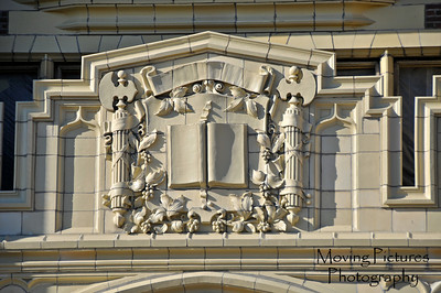 Frieze over front entrance