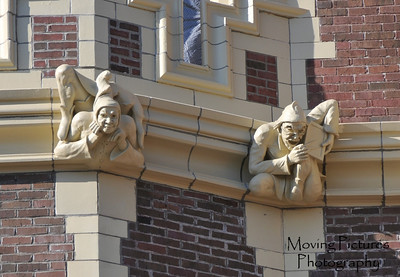 Gargoyles over front entrance