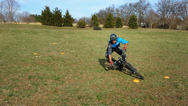 Shaums shows us high speed cornering via slalom course.