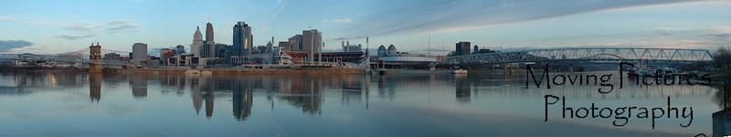 Cincinnati skyline - 1/28/2006
