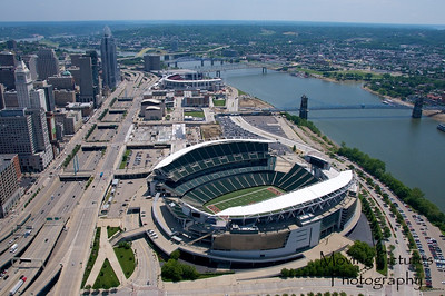 Cincinnati Flyover - Paul Brown Stadium and Great American Ballpark