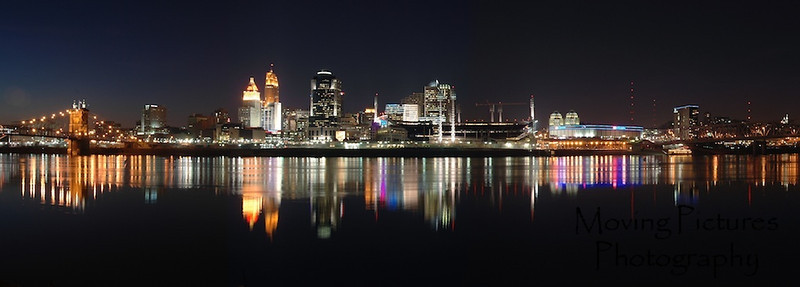 Cincinnati skyline - Feb. 2005