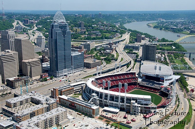 Cincinnati Flyover - Great American Ballpark and Great American Tower