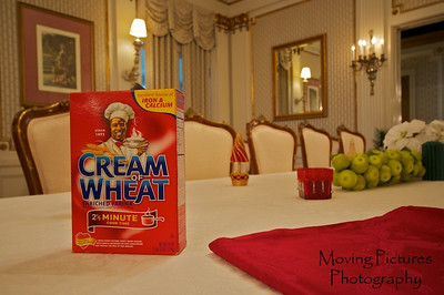Laurel Court - Cream of Wheat package featuring image of Thomson's butler